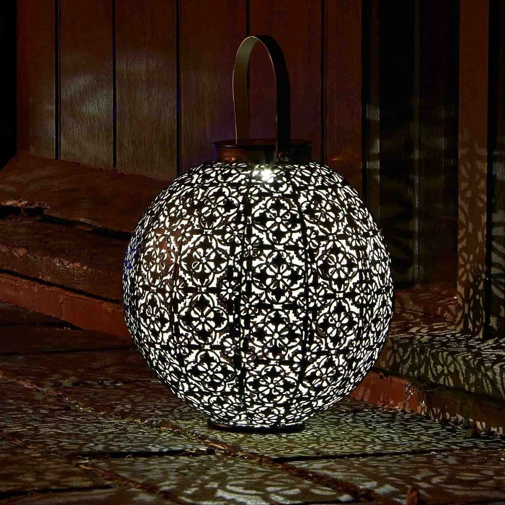 A Stunning Garden Lantern That Projects Scrolling Shadows, The Damasque  Decorative Metal Solar Lantern Is Super Bright! Buy Solar Garden Lanterns  At The ...