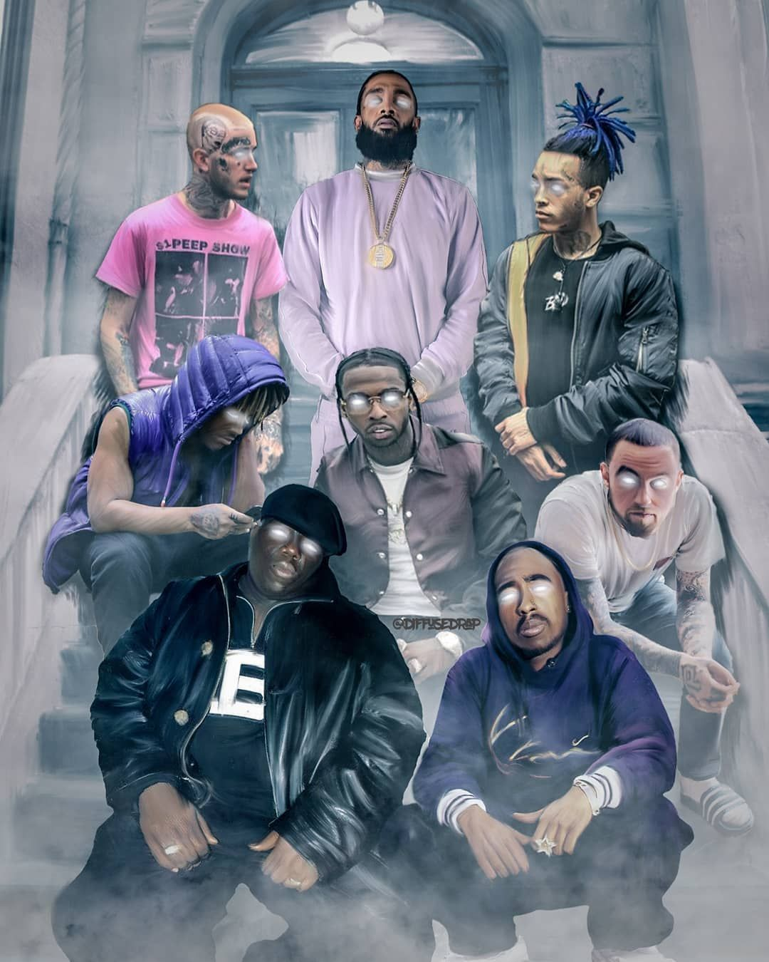 I Ve Been Meaning To Create A Piece Involving All The Recent Artists Who Have Passed Away As Well It Was How To Bring It In 2020 Rapper Art Hip Hop