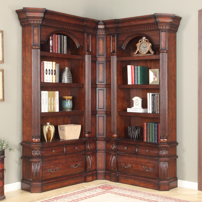 Versailles Library Corner Bookshelf By Parker House Nice