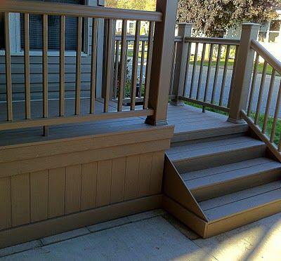Outdoor Living A Couple Of Synthetic Porches Deck Skirting Decks Backyard Decks And Porches