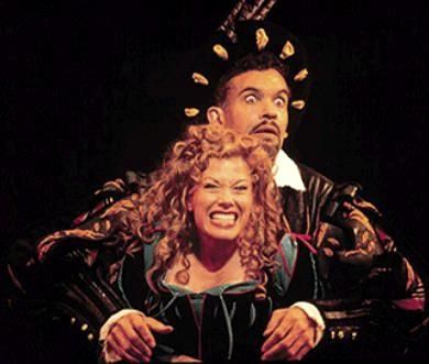 Marin Mazzie and Brian Stokes Mitchell in Kiss Me, Kate