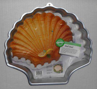 Wilton Sea Shell Mold Aluminum Cake Pan Scallop 2105 8250
