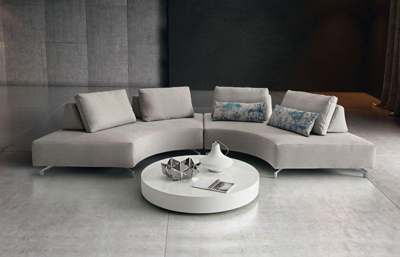 Divani Angolari Curvi.Fly Light Di Dema Divani Componibili Modular Sofa