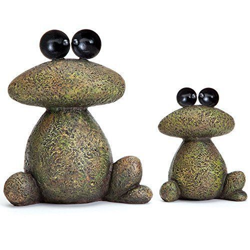 Whimsical Garden Statues Home Decor Resting Frogs Stone Sculpture