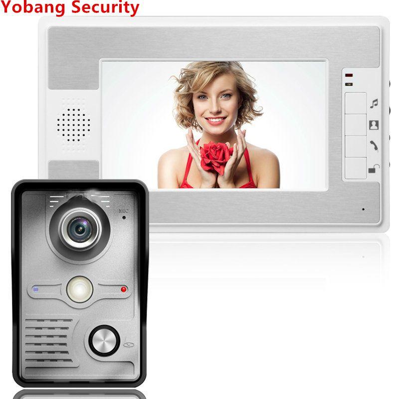 Yobang Security Freeship Video Doorphone 4 Wires Video Intercom