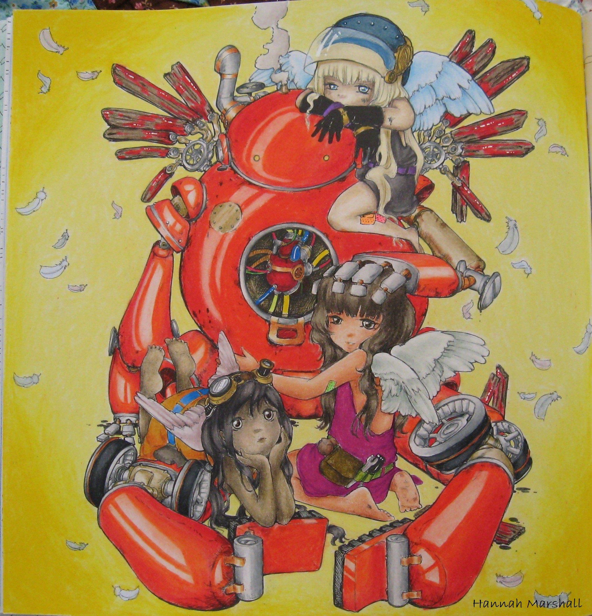 Pop Manga Coloring Book By Camilla D Errico Colored By Hanamarma Manga Coloring Book Camilla D Errico Coloring Books
