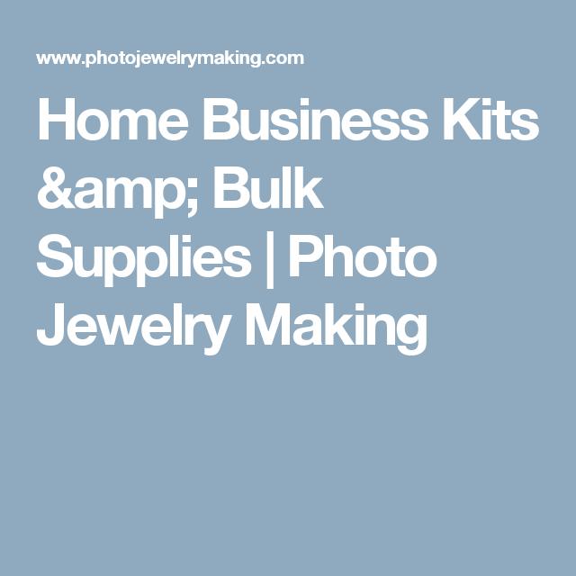 Home Business Kits & Bulk Supplies | Photo Jewelry Making
