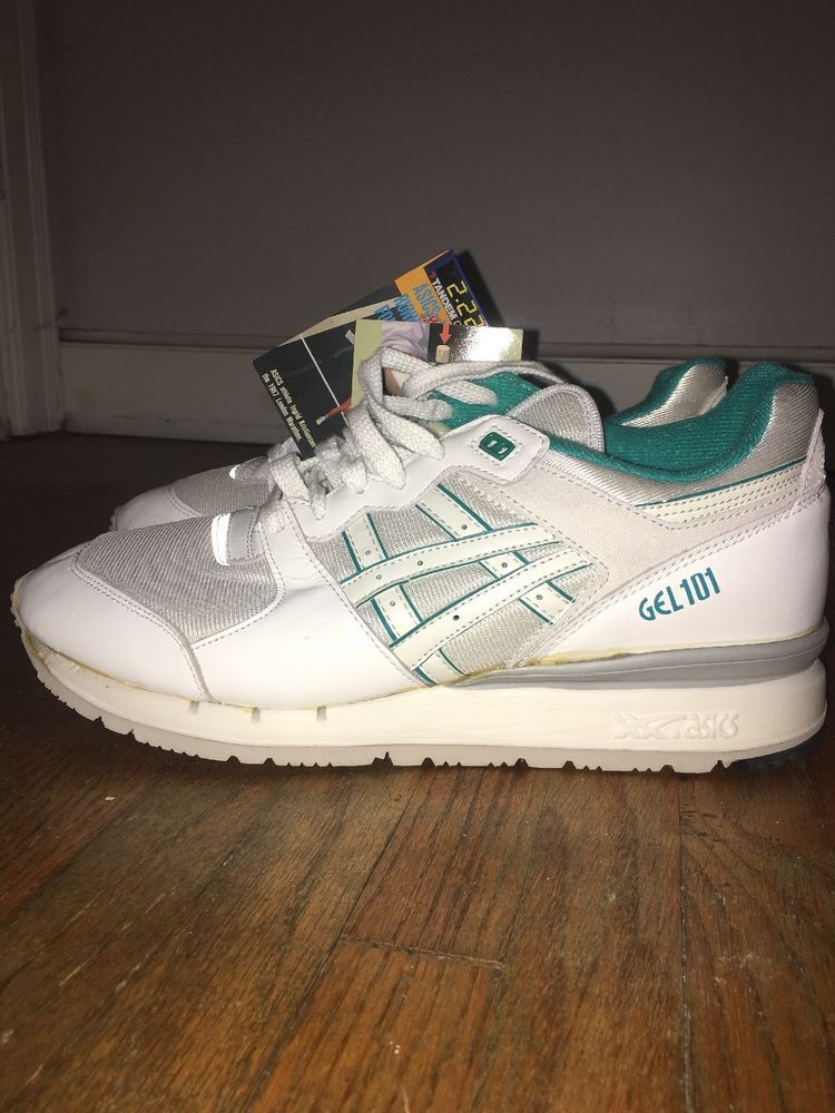 0c3607173221 VINTAGE 80s 90s ASICS TIGER GEL 101 WOMENS RUNNING SHOES WHITE TEAL SIZE 10   fashion  clothing  shoes  accessories  womensshoes  athleticshoes (ebay  link)