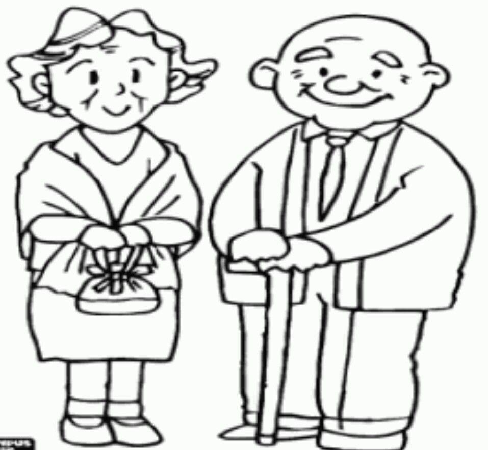 Pin Van Maggie Morande Op Caminito De La Escuela Grootouders Knutselen Opa En Oma Kleurplaten