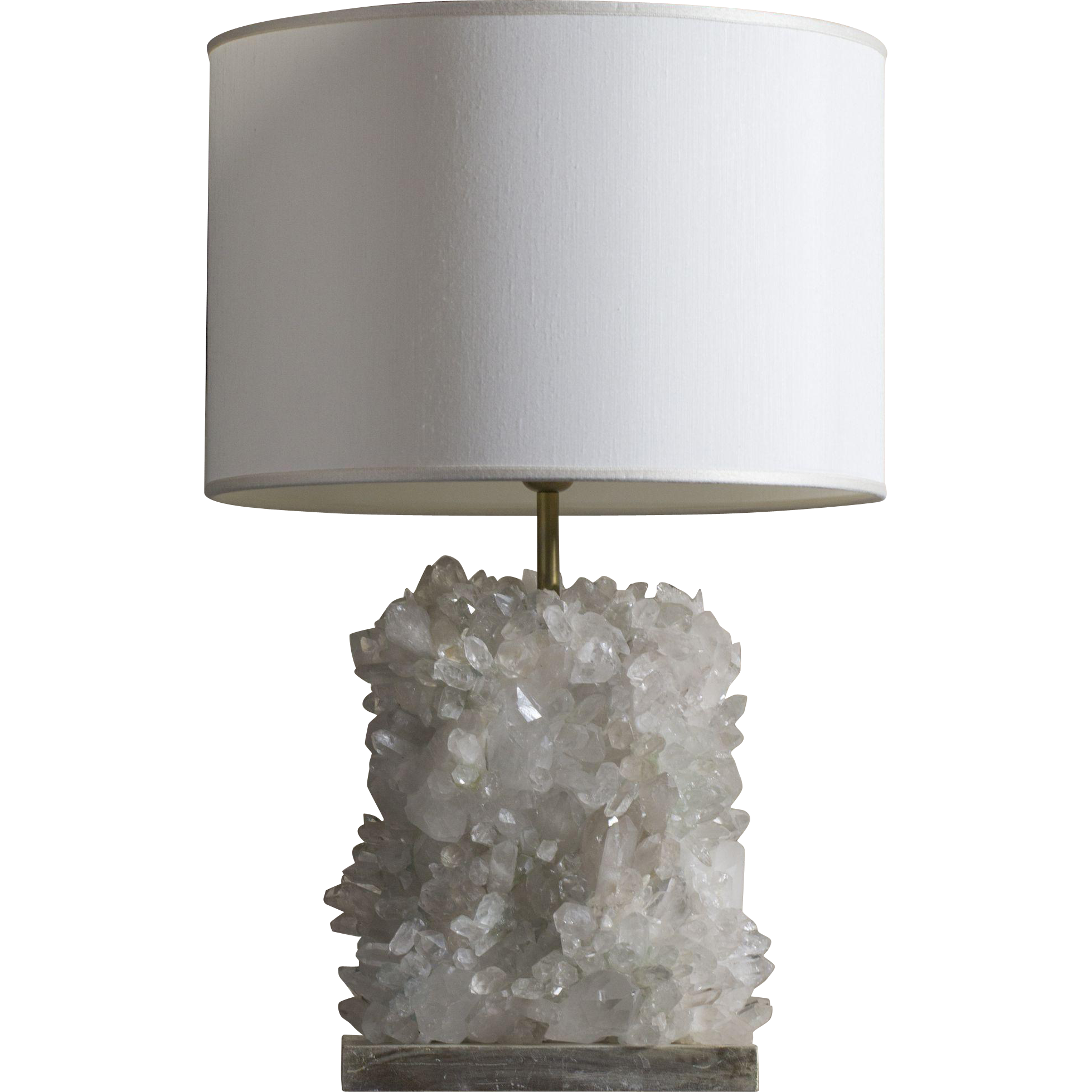 1980's Clear Quartz Lamp