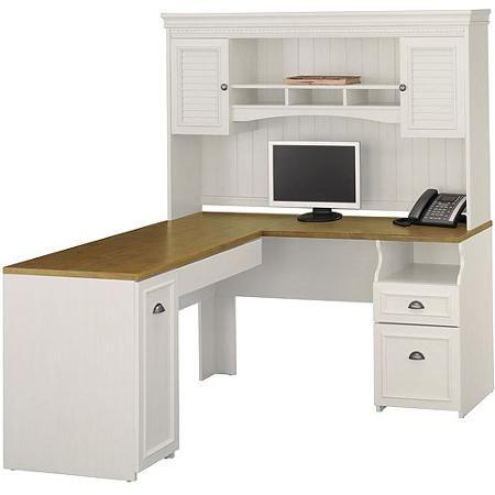 Bush L Shaped Desk With Hutch Artistic Desk Pad