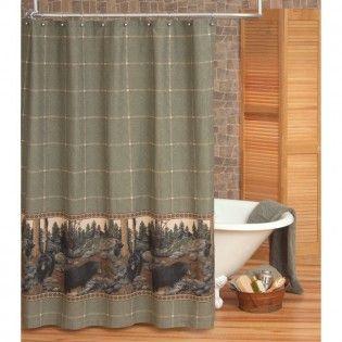 The Bears Shower Curtain Lodge Shower Curtain Fabric Shower