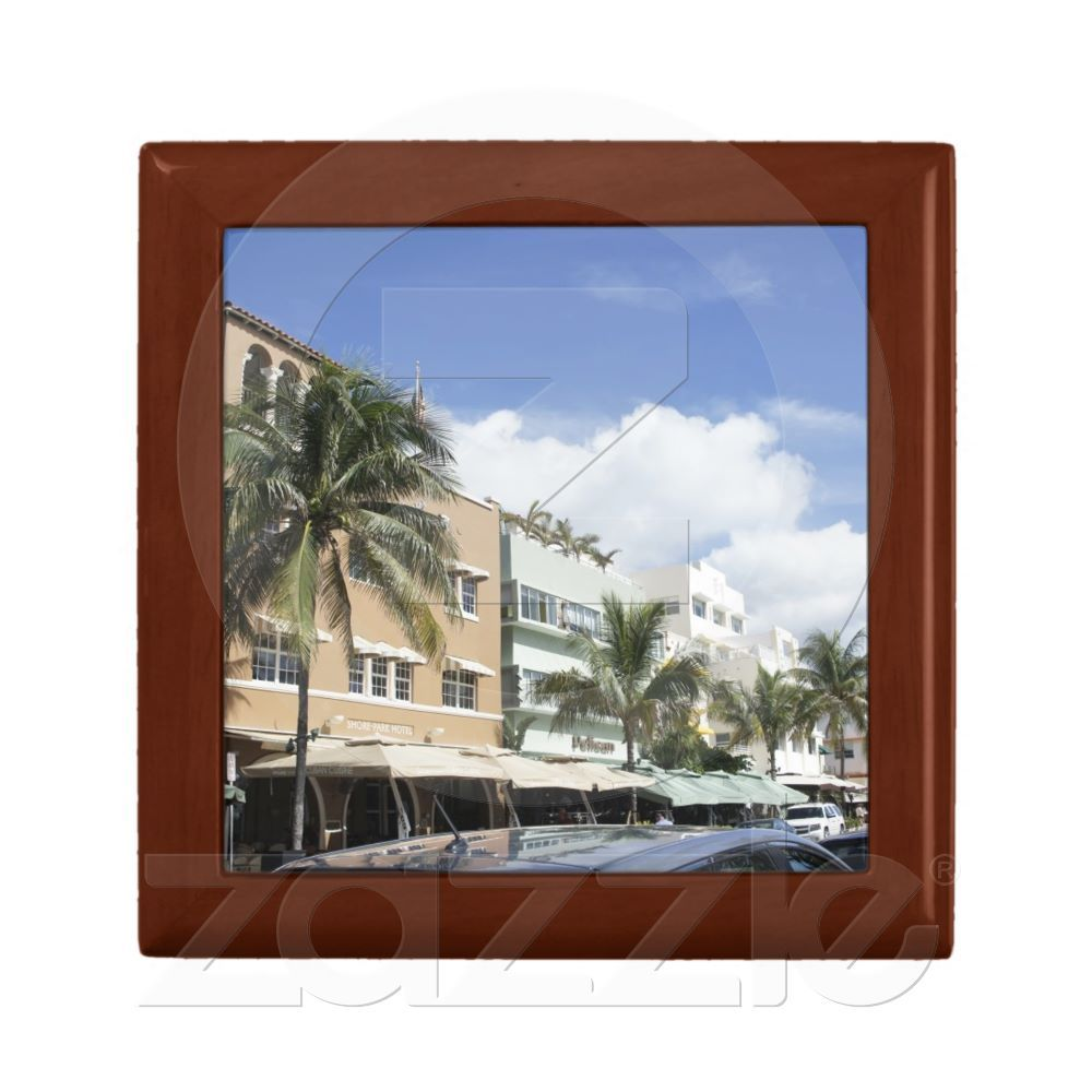Miami Beach Jewelry Boxes from Zazzle.com