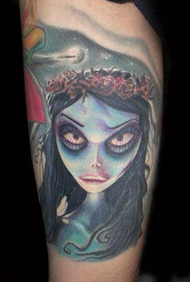 Probably the best corpse bride tattoo I've seen
