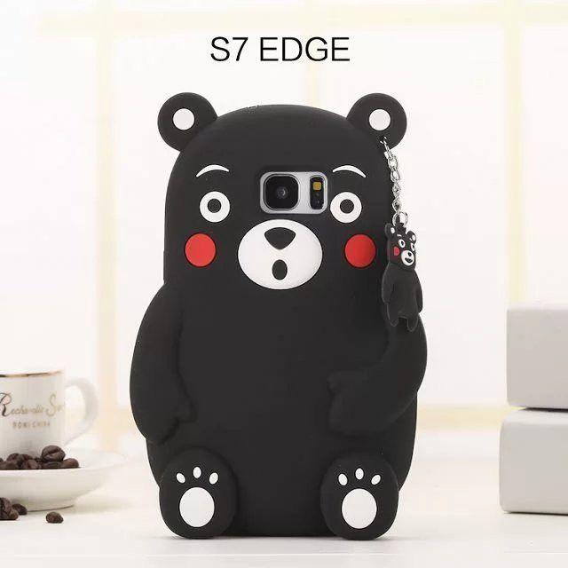 Kawaii Cartoon Matsumoto Kumamon Coque Case For Iphone 7 plus Samsung Galaxy S7 S6 EDGE S5 S4 Note 3 4 5 Silicone Case