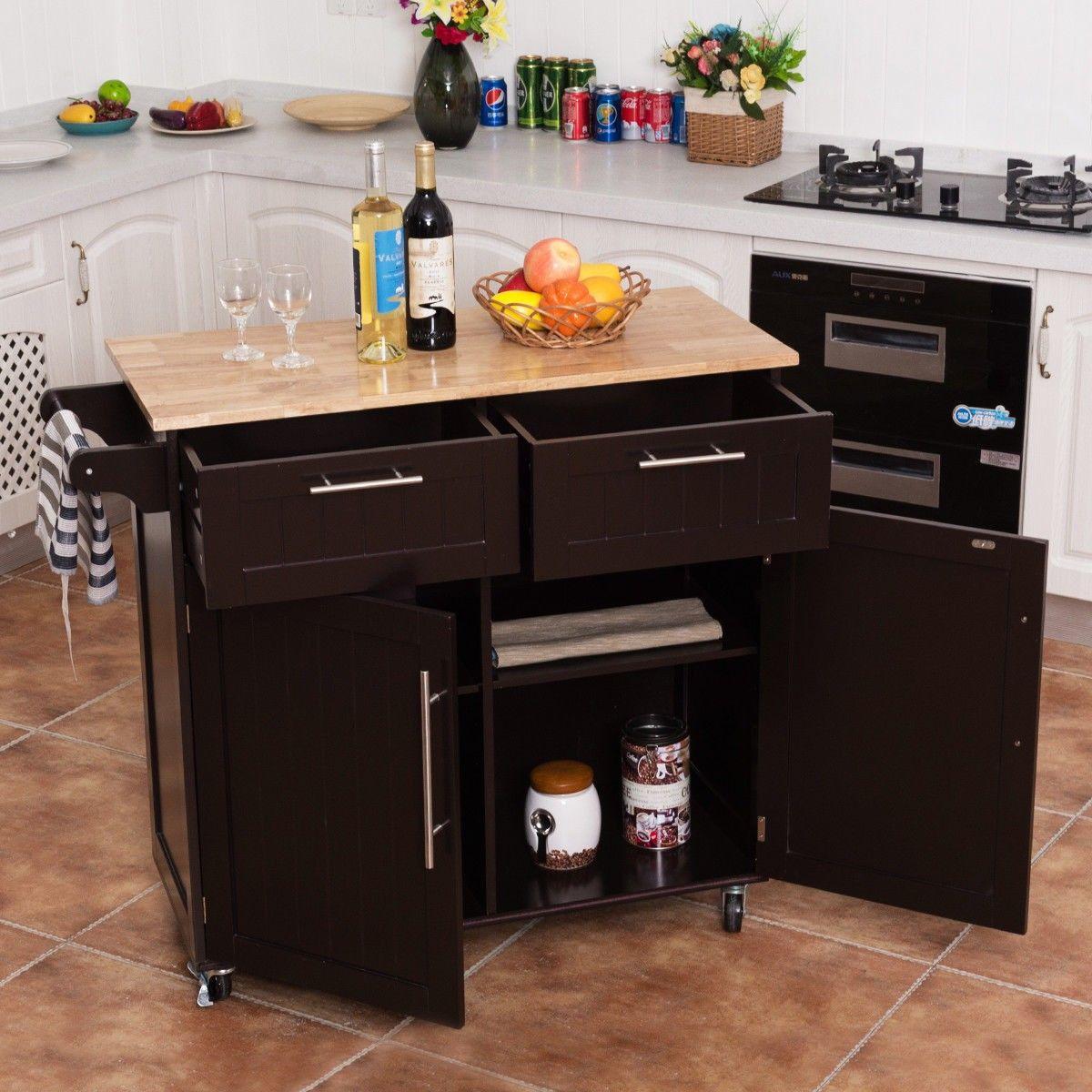 Heavy Duty Utility Modern Rolling Kitchen Cabinet Cart   Furniture ...