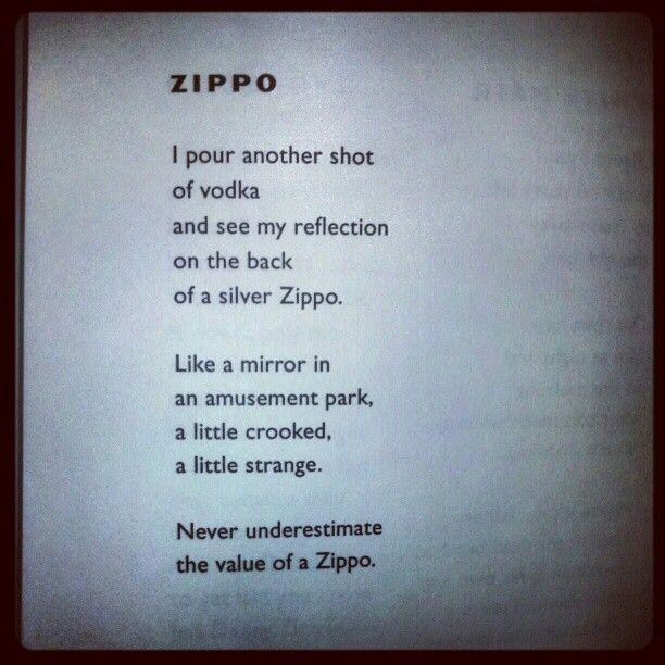 Zippo By Michael Madsen Zippo Michaelmadsen Poetry Zippo