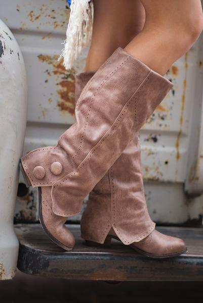 Bailey Favorite Button Boots (Taupe) NanaMacs Boutique