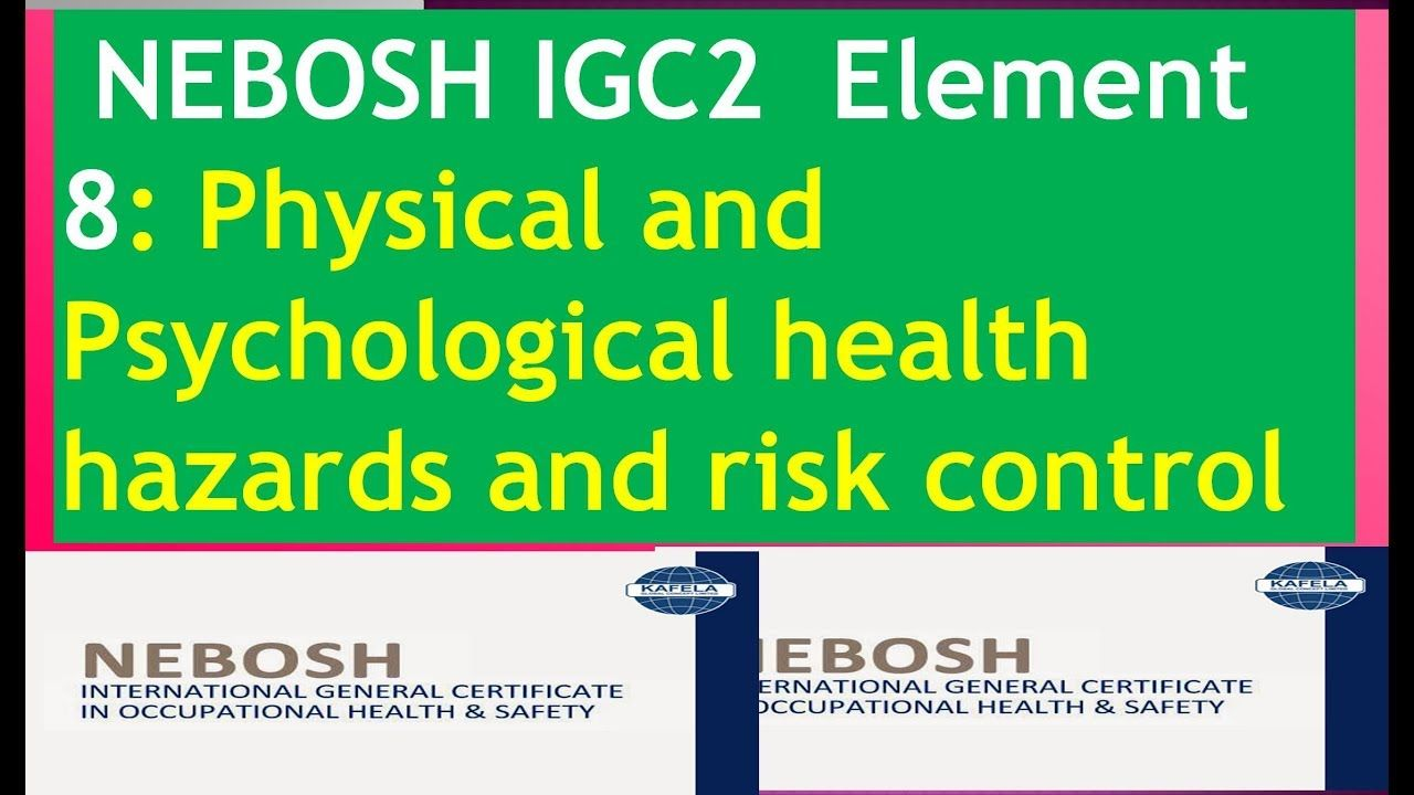 NEBOSH IGC 2 ELEMENT 8 ! Physical and Psychological