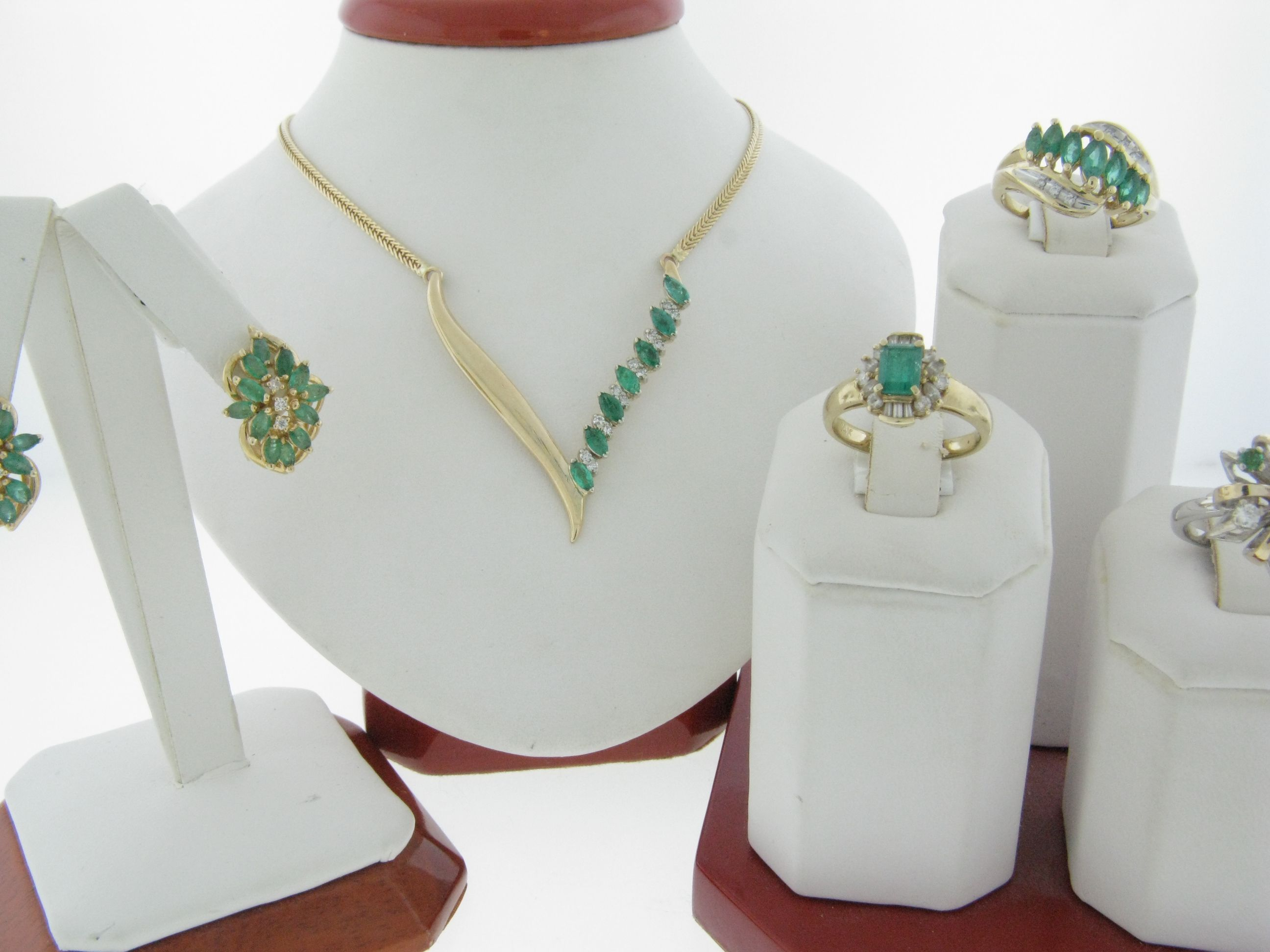 Emerald Estate Pieces from Malak Jewelers