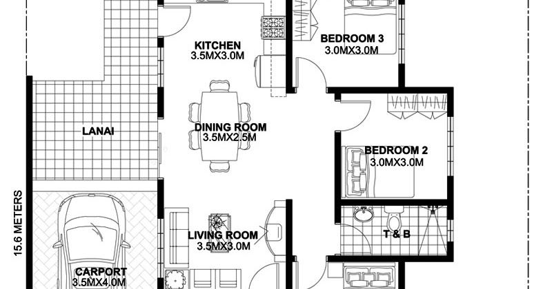 4 House Plans With One Story Level 1 Home Design Plan 13x15m With 3 Bedrooms 2 Home Design Plan 19x15m Wi Bungalow House Design Bedroom House Plans House Plans