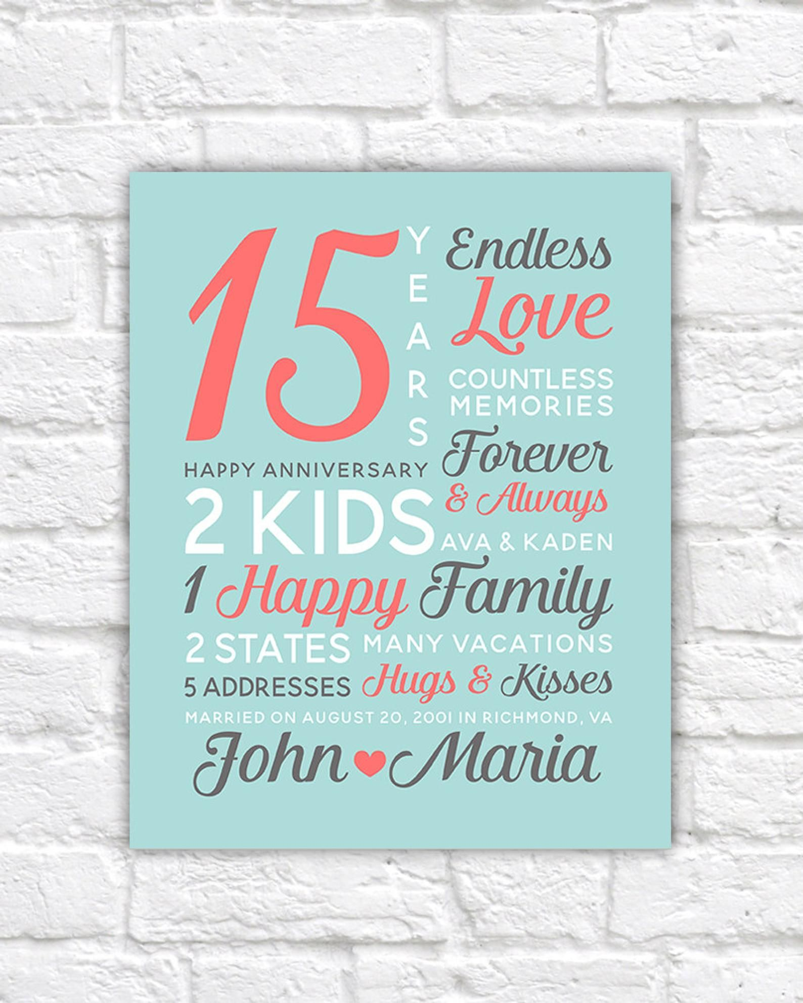 Personalized Anniversary Gifts Wedding Date Canvas Art 15th Etsy In 2021 Personalized Anniversary Gifts Personalized Anniversary 15 Year Anniversary