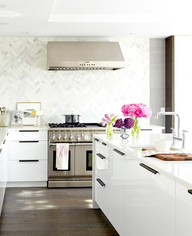 The Most Stylish IKEA Kitchens Weve Seen Bright flowers Kitchens