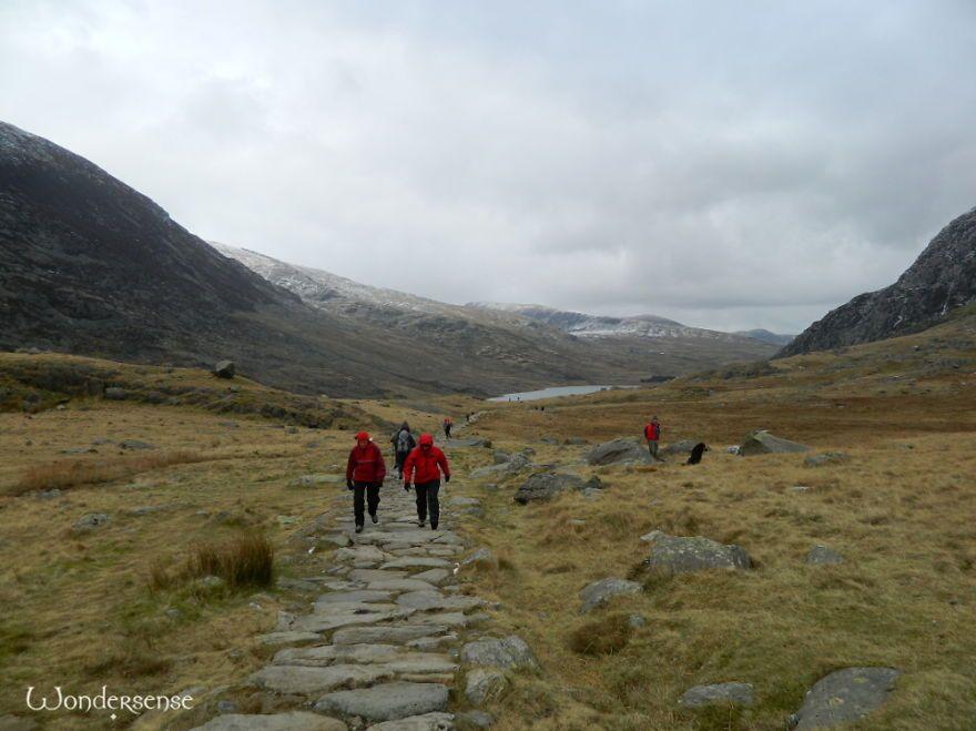 Red Walkers Around Cwm Idwal, Snowdonia National Park