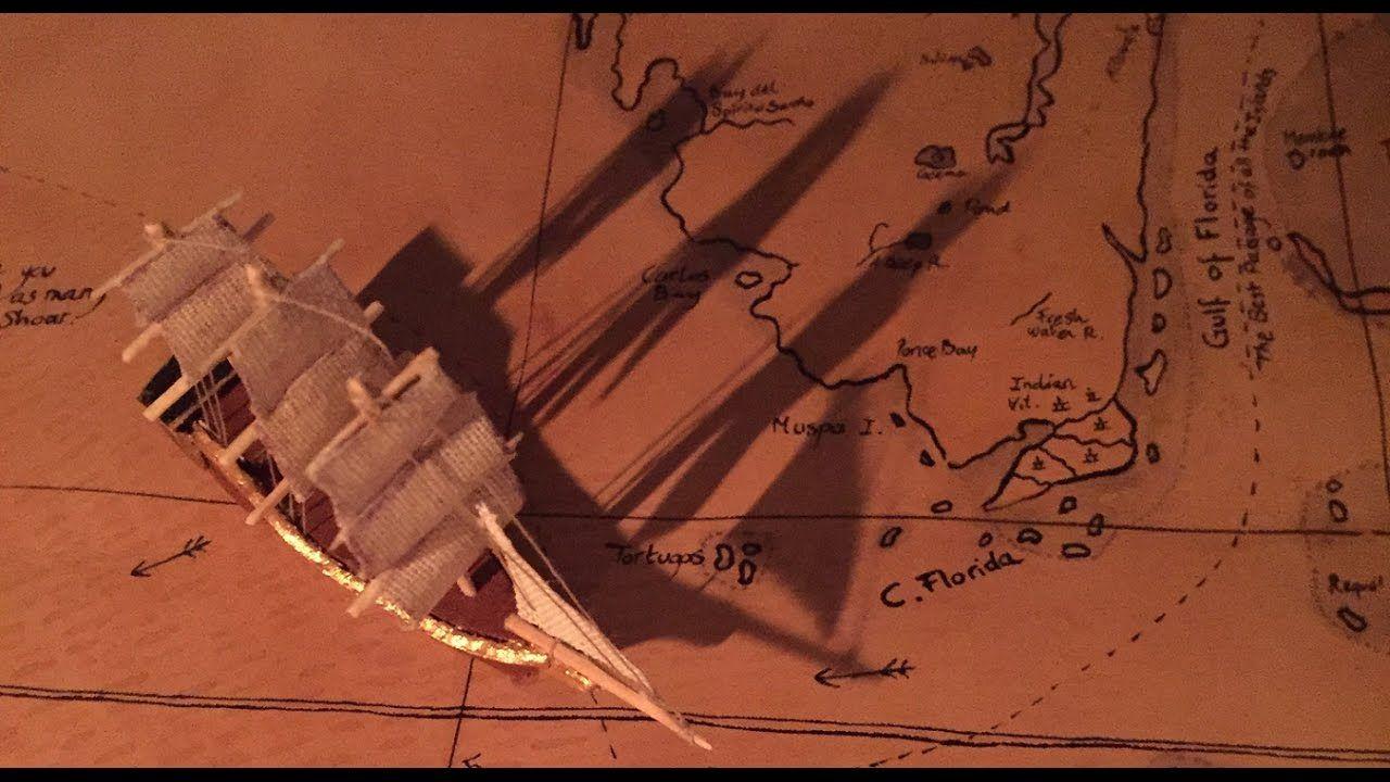 Carte sur cuir des caraïbes caribbean sea leather map