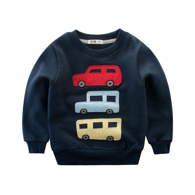 Spring Fashion Baby Boys Sweater Tops Toddler Kids Boy Cartoon T-shirts Clothes