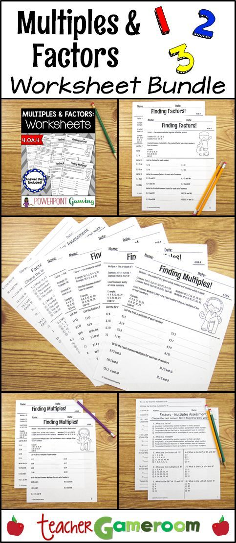 Multiples And Factors Bundle 4oa4 6ns4 Fourth Grade