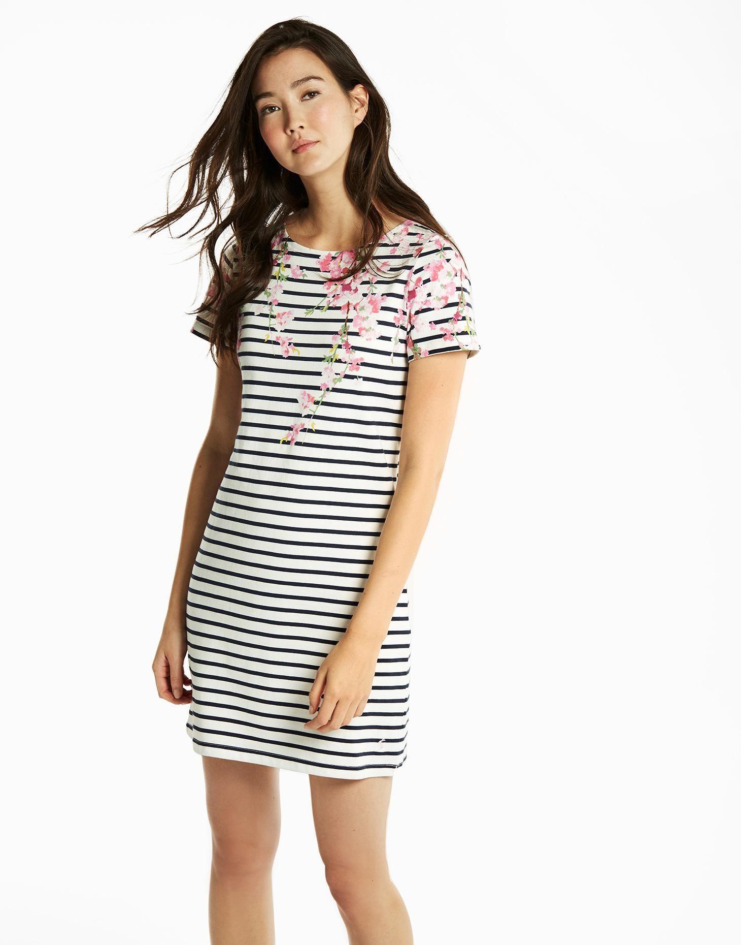38a24cafadb Riviera printed Navy Blossom Stripe Jersey Dress