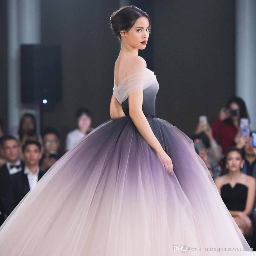 Off The Shoulder Ombre Prom Dresses 8 Unique Ball Gown Long