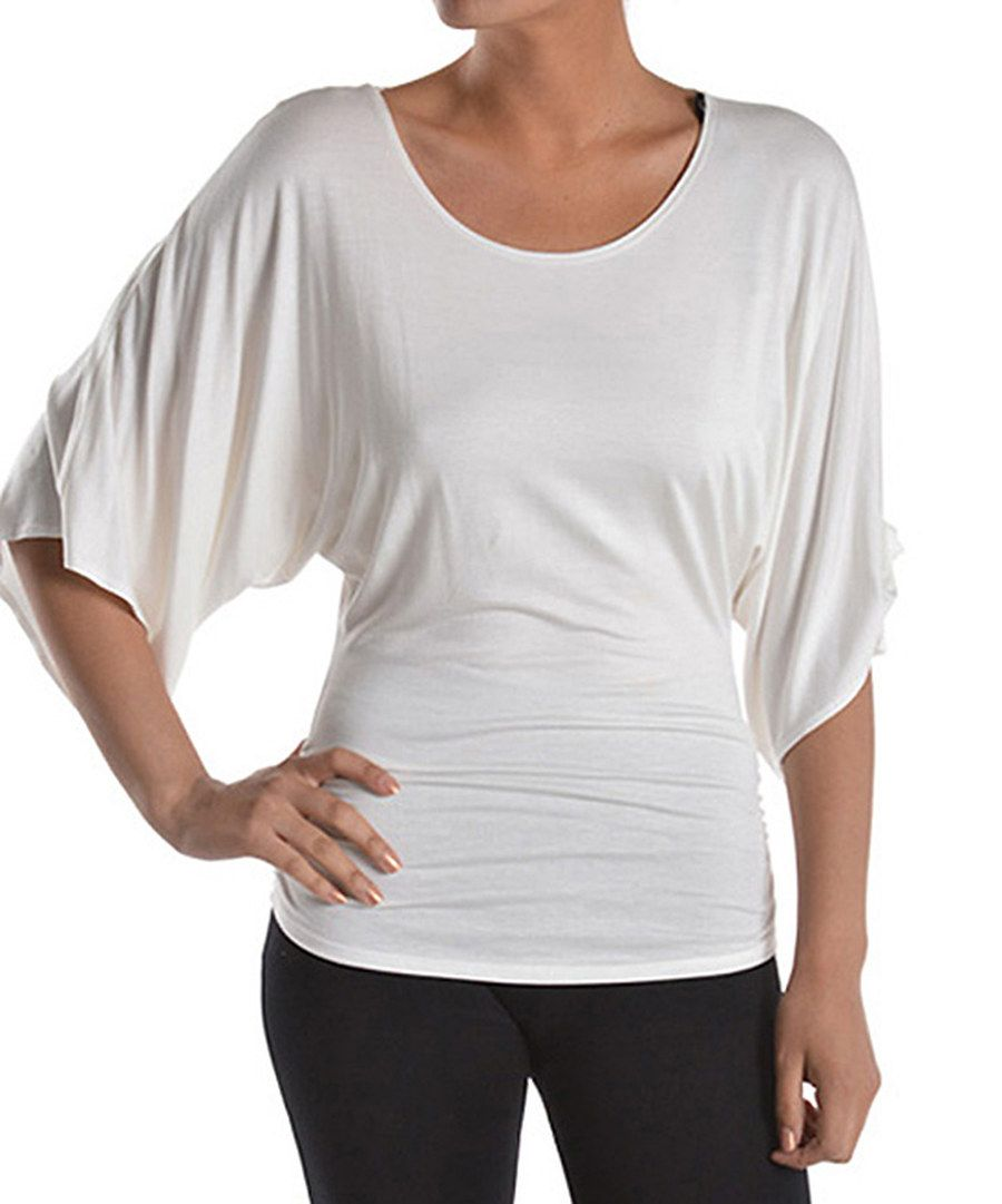 Look at this 42POPS White Dolman Top on #zulily today!