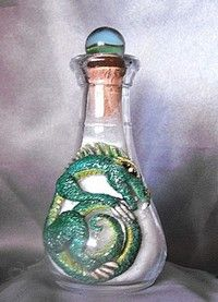 Green Dragon on a 2 oz glass jar. Sold, but so cute, I had to picture him!