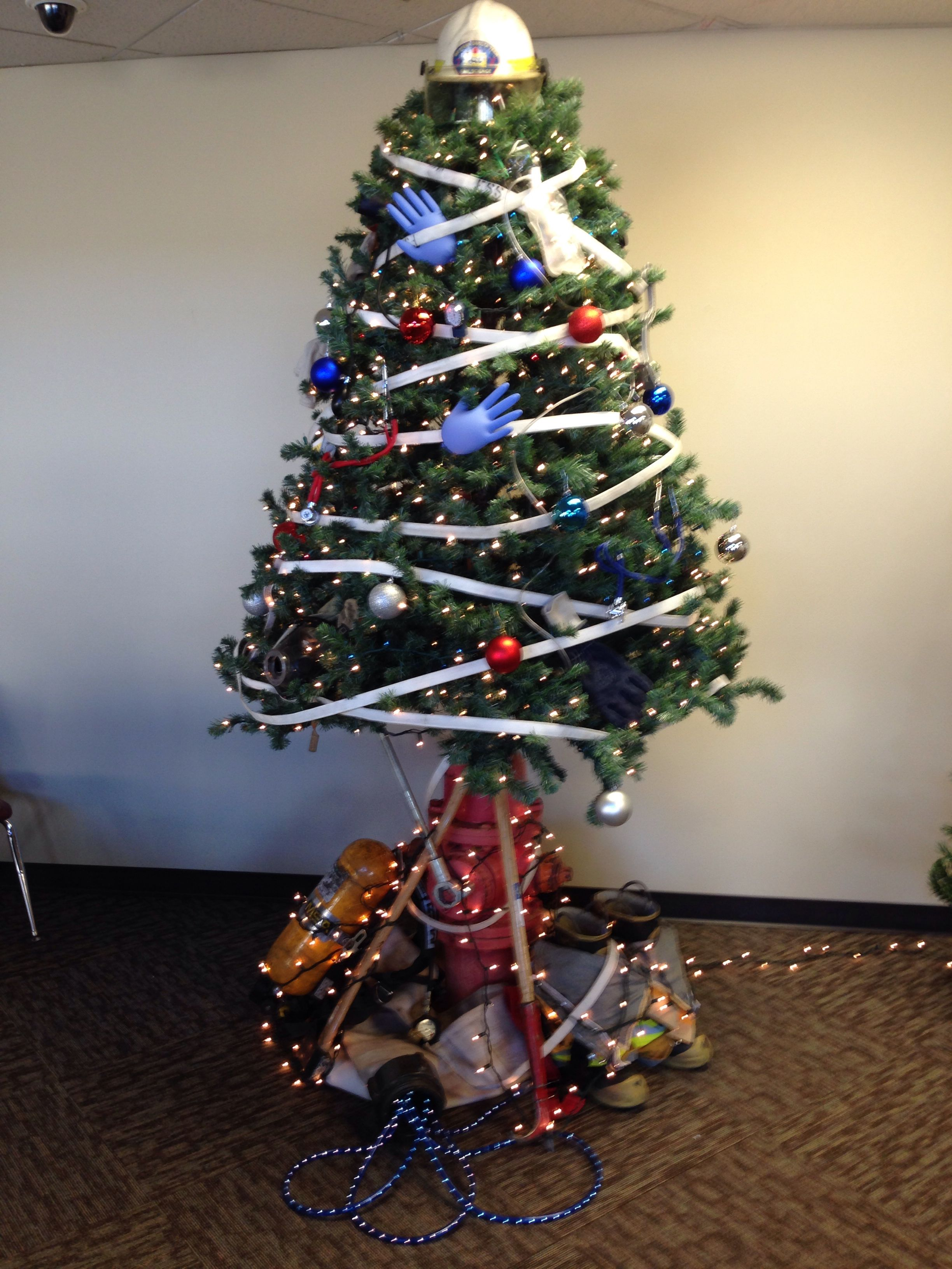 Christmas tree from Western Dakota Tech Fire Science and Paramedic Students!