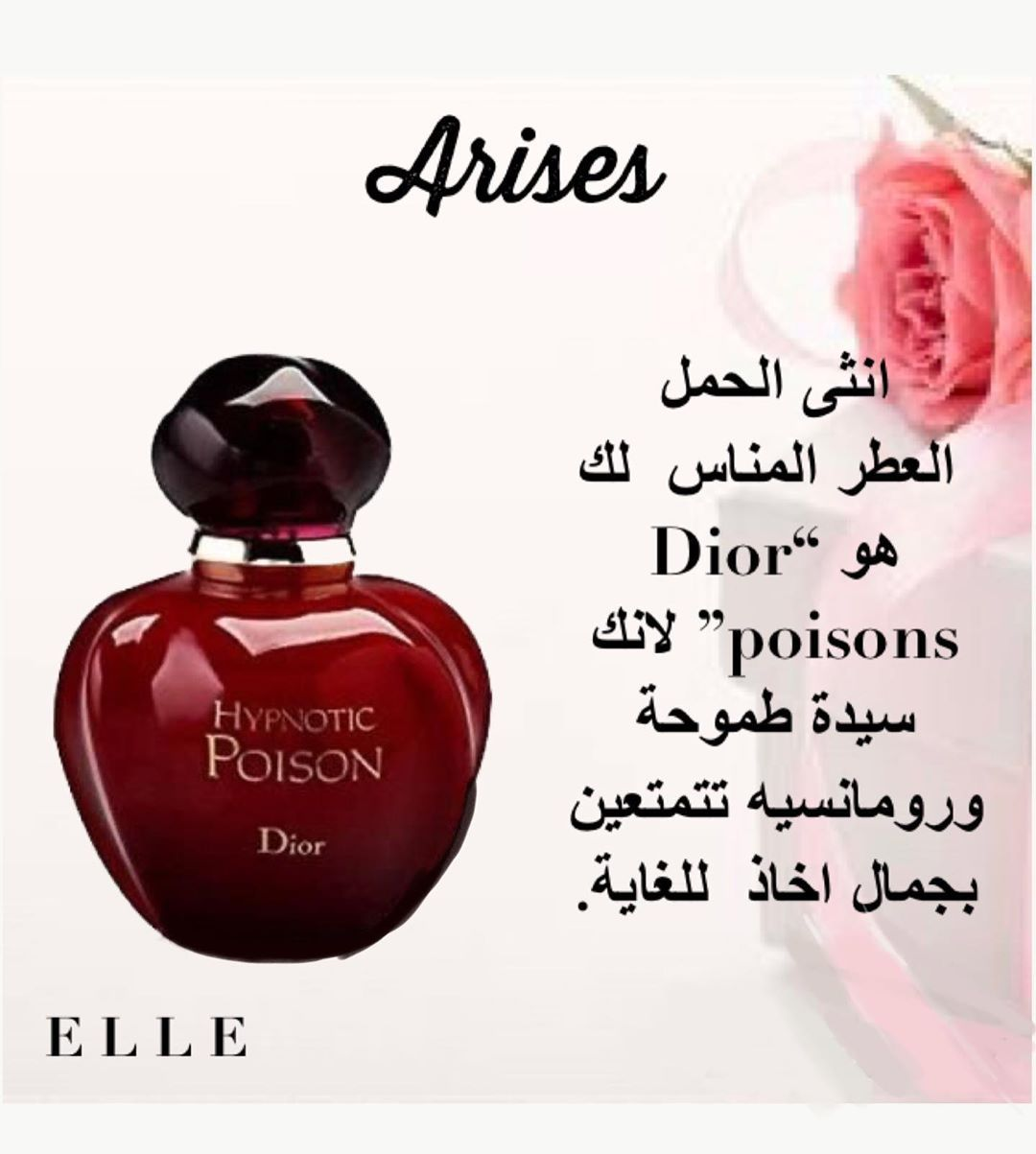 Elle Dz On Instagram مولودة برج الحمل العطر المناسب لك هو Dior Poison Follow Elledzair Elledzair Magazine Zodiacsigns Zodiac Aries Dz Dzpower