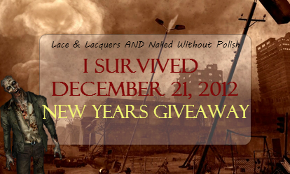 37 Winners Ends January 31 2013 Happy New Year Everyone Happy New Year Everyone I Survived Giveaway