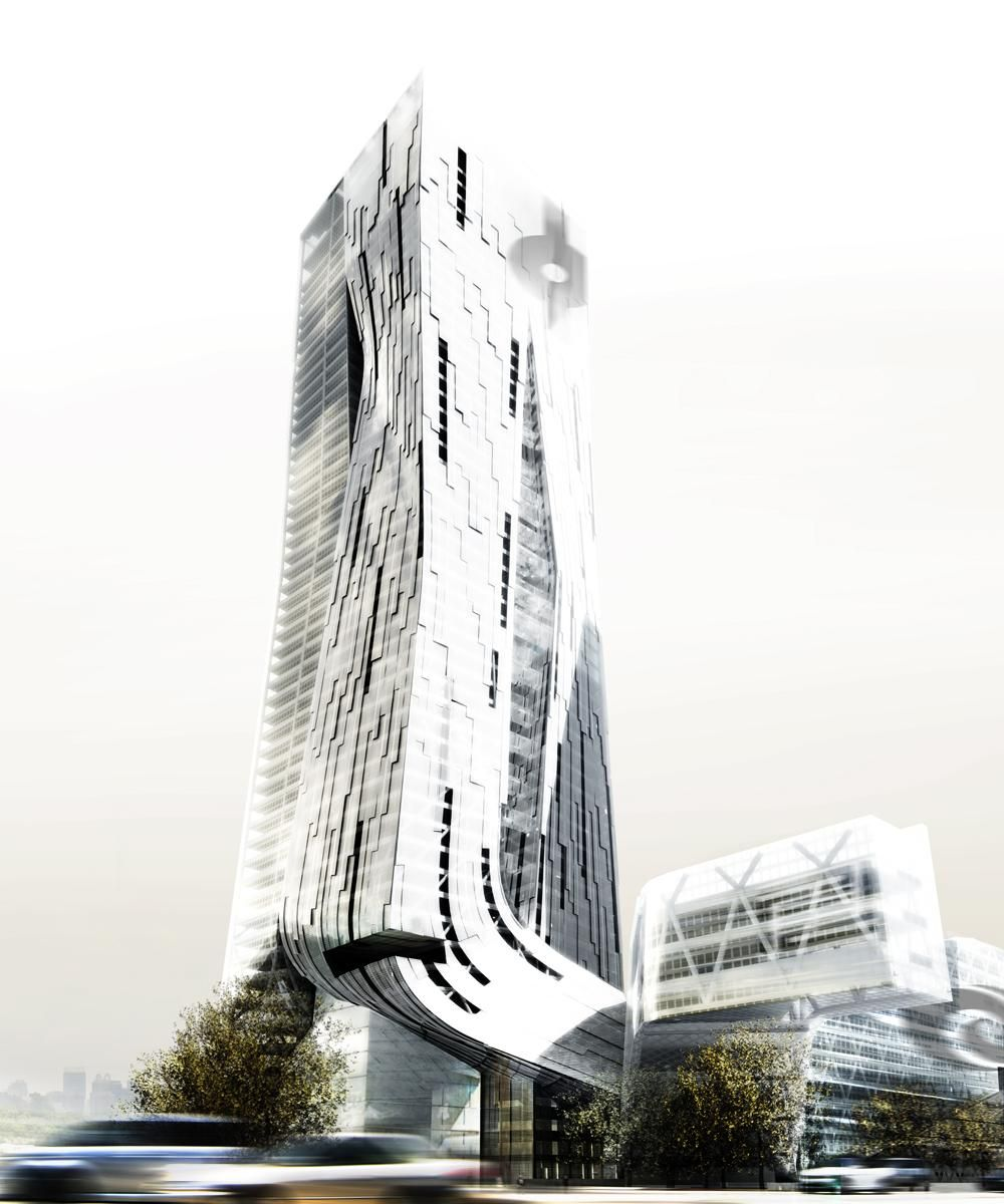 Futuristische Architektur Tower By Morphosis Architects (mit Bildern ...