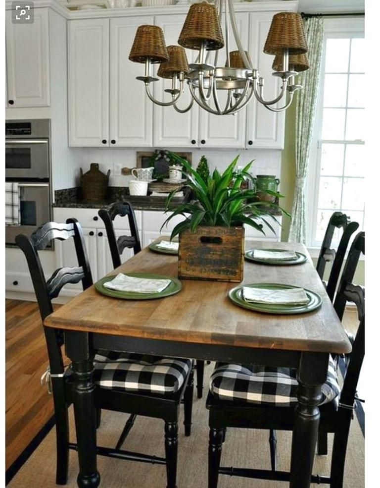 Small Farmhouse Best And Simple Dining Room Kitchen Table