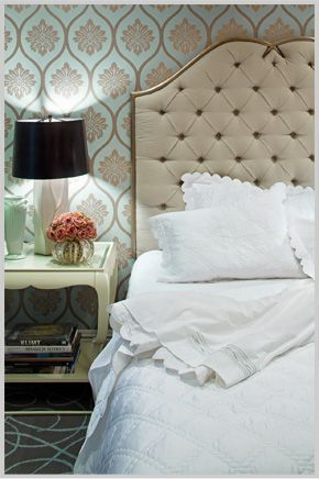 Pretty headboard for Master Bedroom - would prefer without tufting.