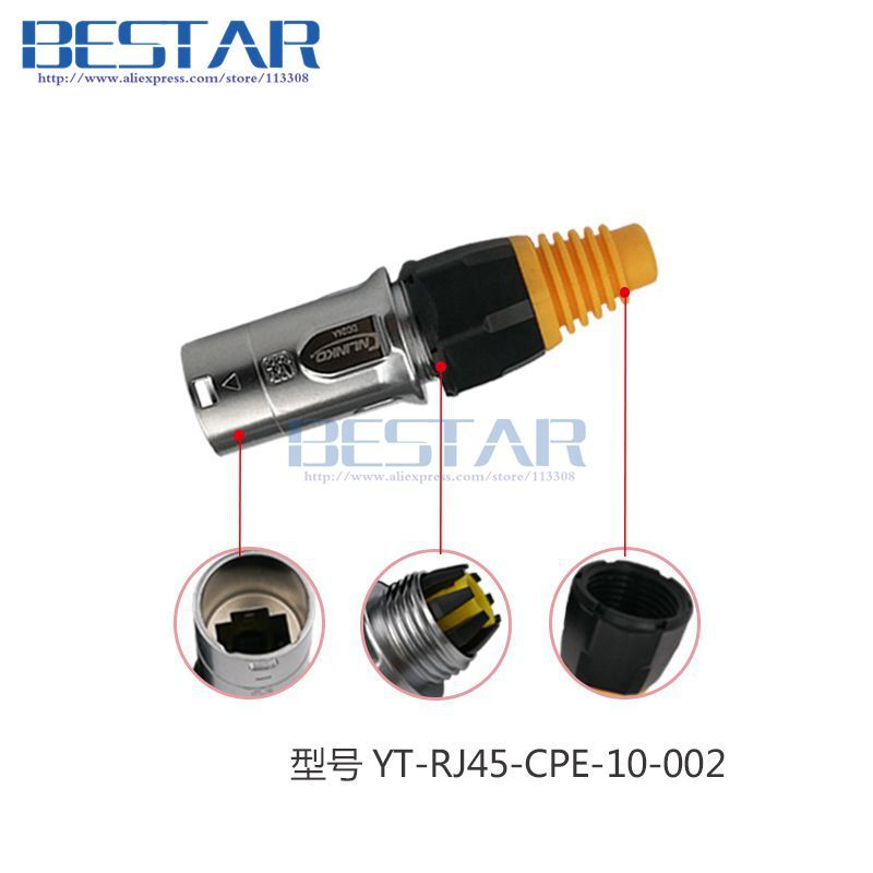 Rj45 Waterproof Connector Plugs And Sockets Ethernet Connector