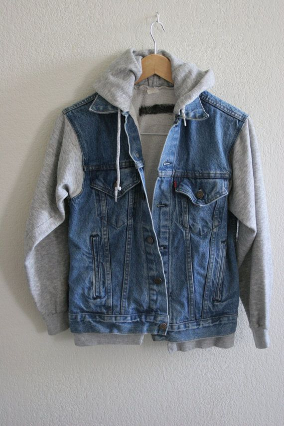 Jean jacket vest hoodie – Modern fashion jacket photo blog