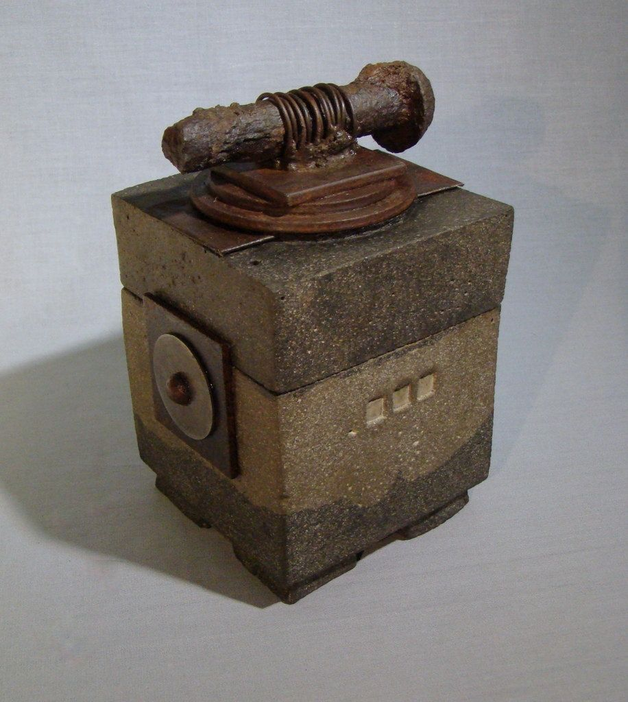 Spike A Reliquary Box Urn Of Concrete And Iron