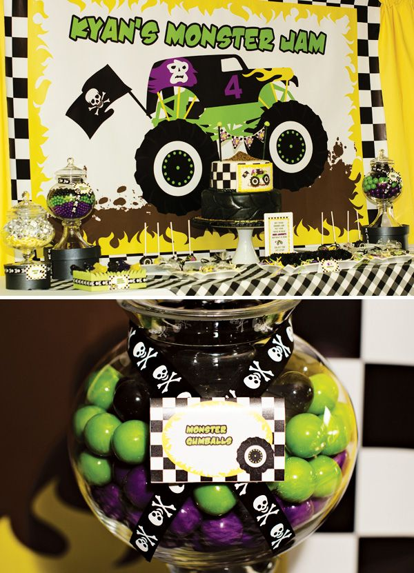Epic Grave Digger Themed Monster Jam Party Monster jam Monsters