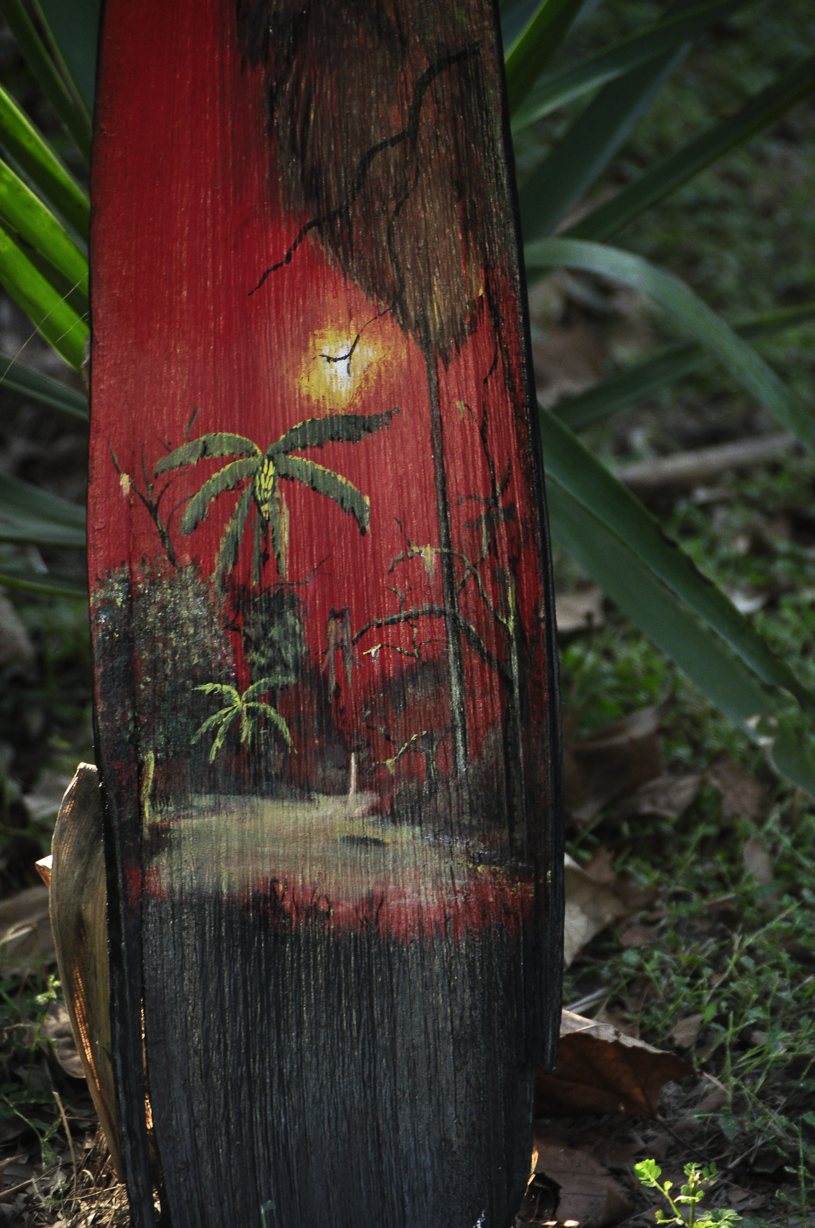 Painted Palm Frond Palm Frond Art Palm Tree Art Palm