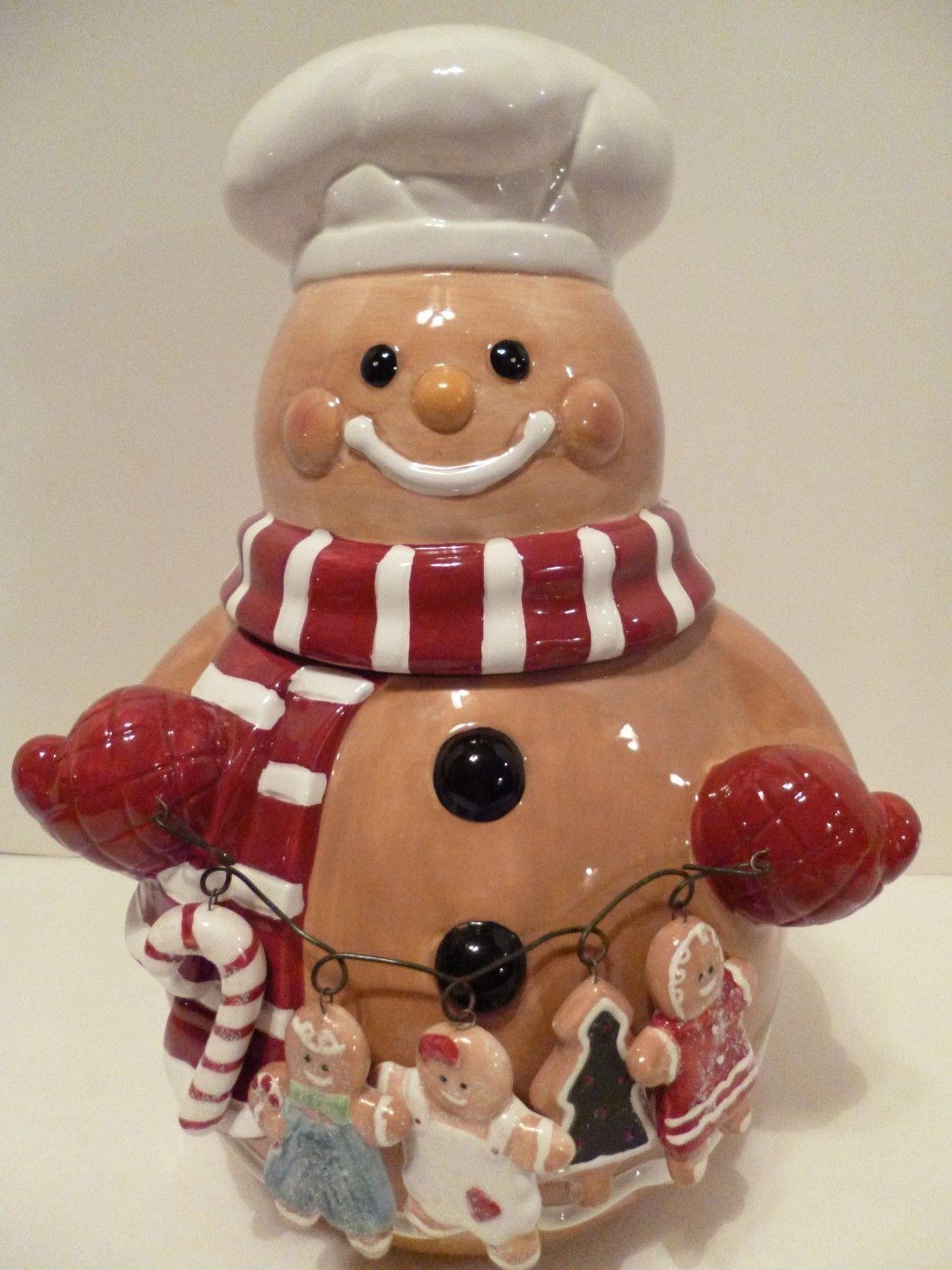 Ceramic Gingerbread Man Cookie Jar Christmas Cookie Jars Cookie
