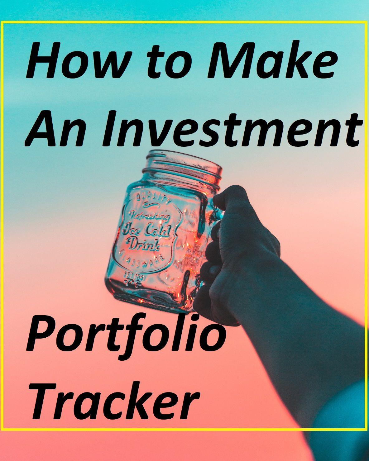 how to make an investment portfolio tracker using google spreadsheet