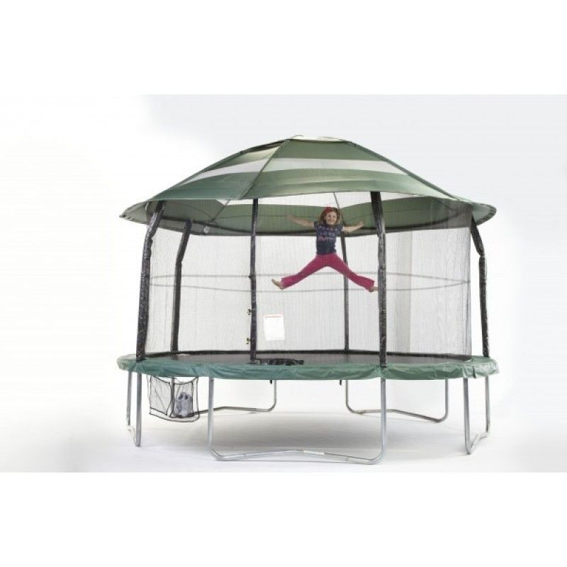 14ft Trampoline Canopy Cover Solid Green Only For Trampolines With Top Ring Enclosure Systems Roof Canopy Backyard Trampoline Trampoline 14ft Trampoline