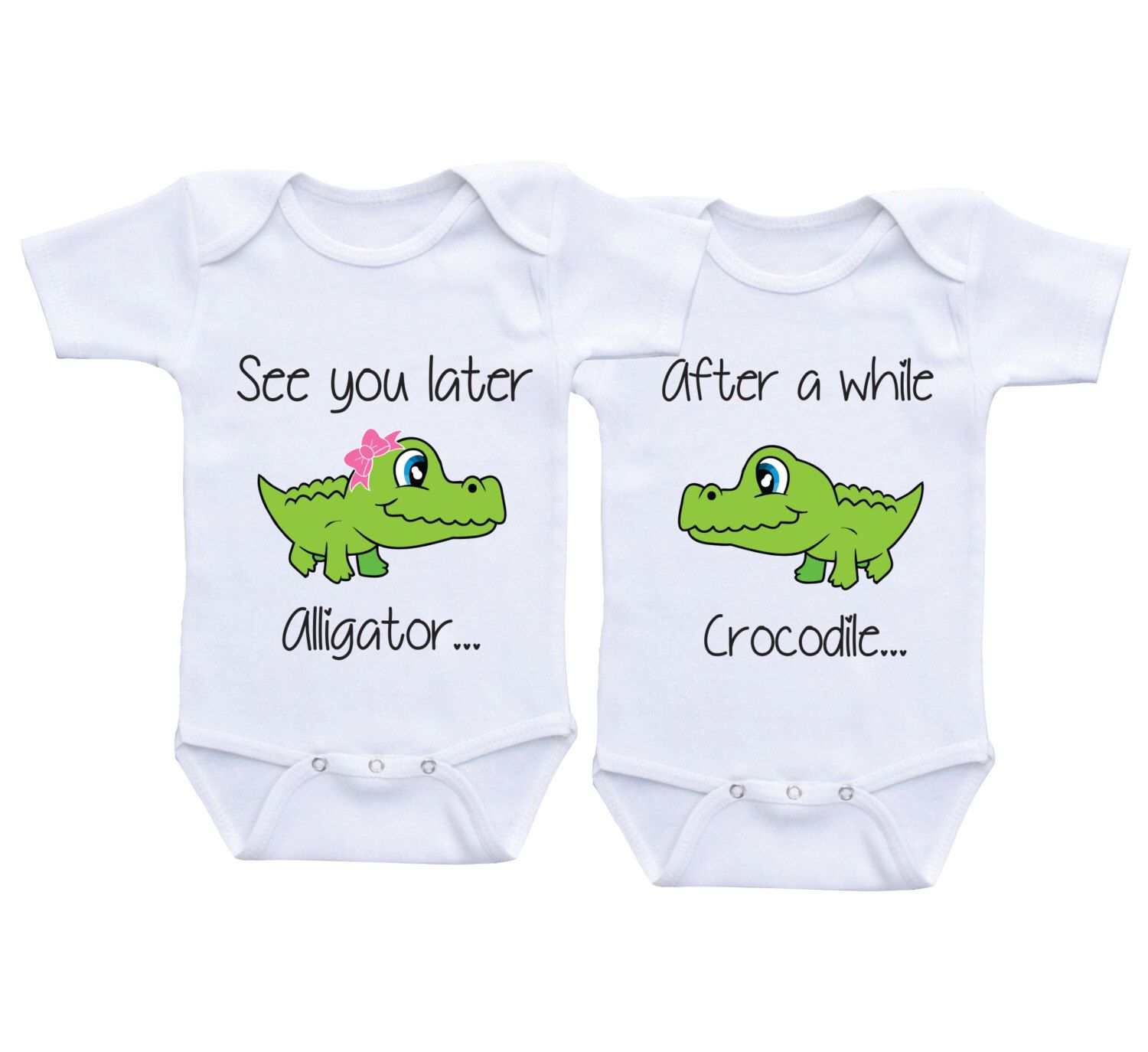 Twins Baby Gifts Boy Girl Twin CLothes Shower Gift Outfits Onesies For